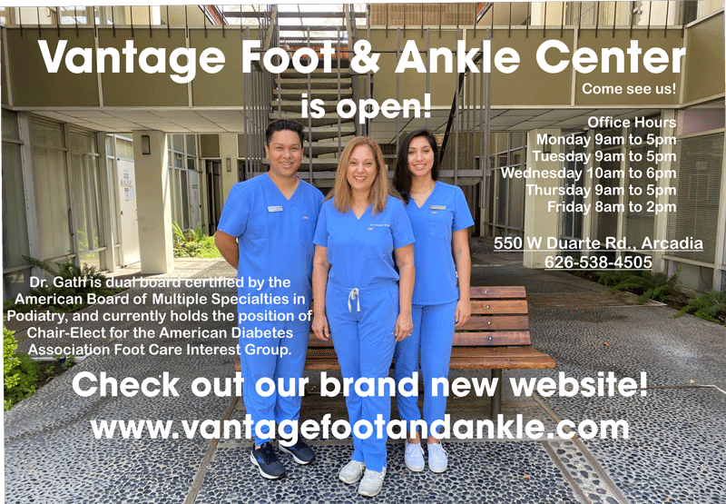 Vantage Foot and Ankle Center is open