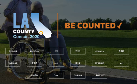 LA County 2020 Census in your language