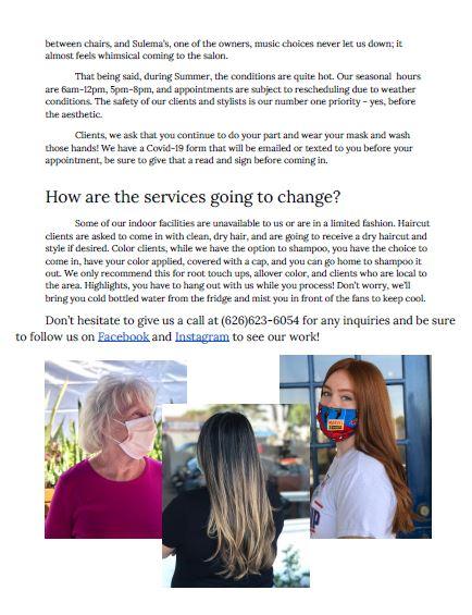 Dutch Door Hair Salon how will services change