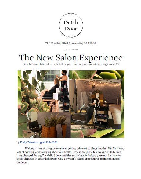 Dutch Door Hair Salon new salon experience