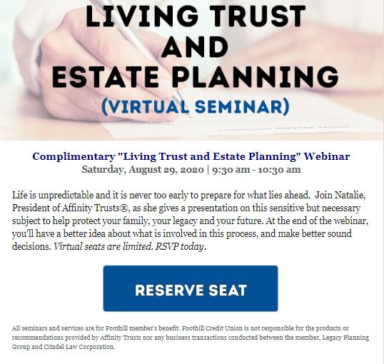 Living Trust and Estate Planning seminar