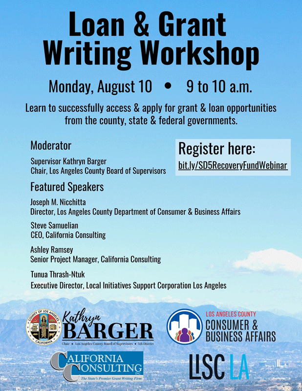 Loan and Grant Writing Workshop with Kathryn Barger