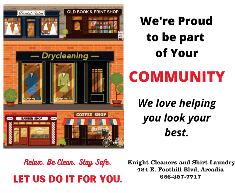 Knight Cleaners is proud to be part of your community