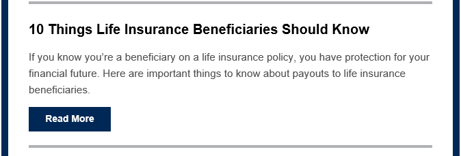 10 Things Beneficiaries should know