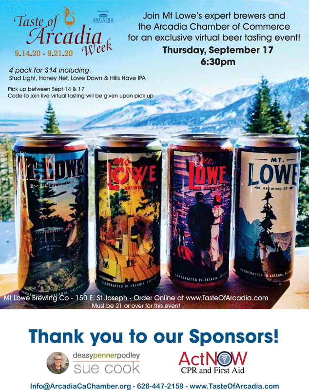 Mt Lowe Brewing Co beer tasting event