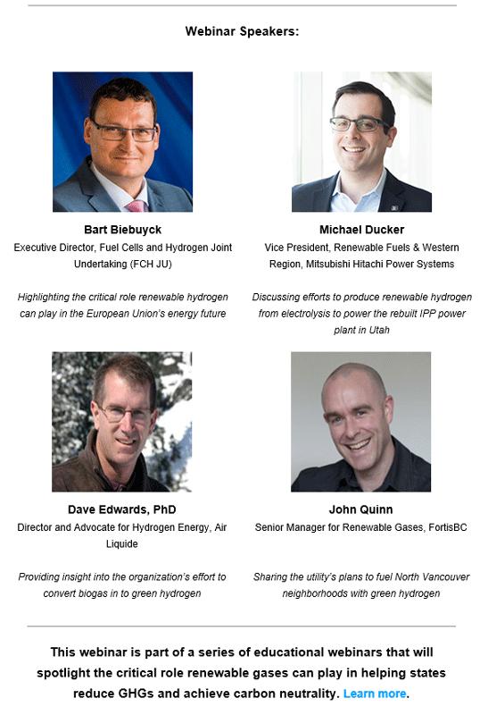 SoCalGas Webinar Speakers