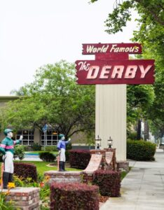 The Derby Restaurant signage