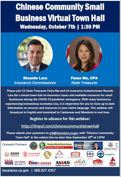 Fiona Ma Chinese Community Small Business Virtual Town Hall