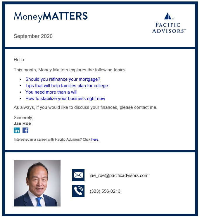 Jae Roe Money Matters