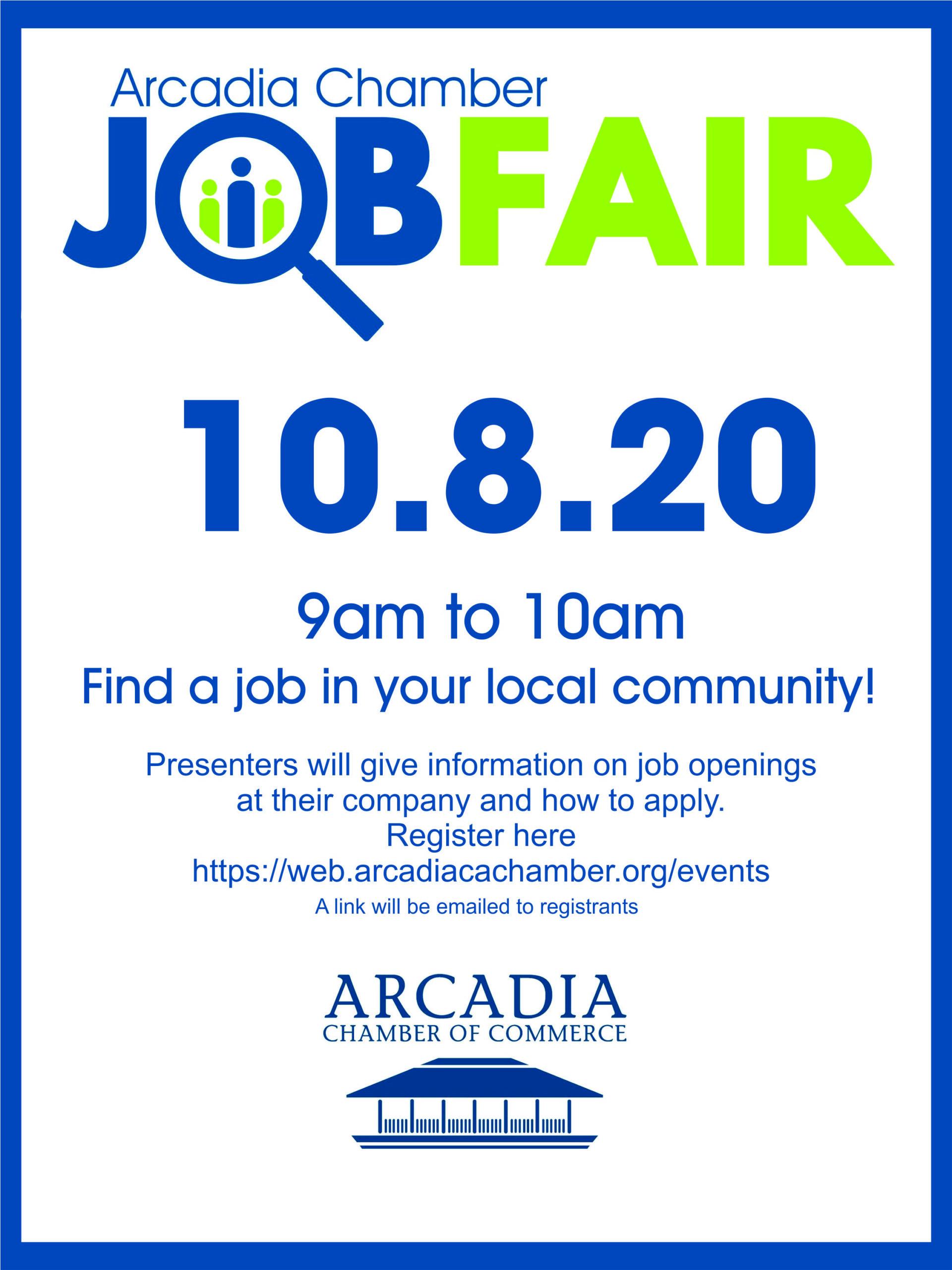 Arcadia Chamber Job Fair