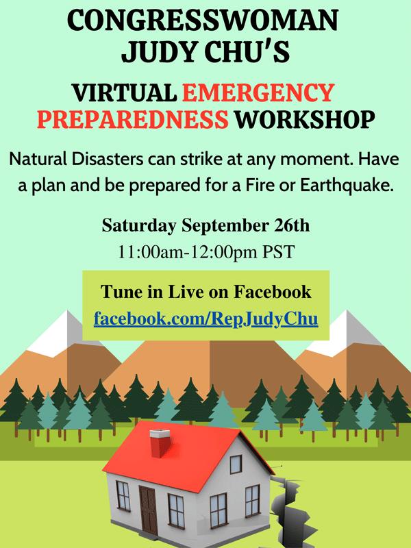 Congresswoman Chu Emergency Preparedness Workshop