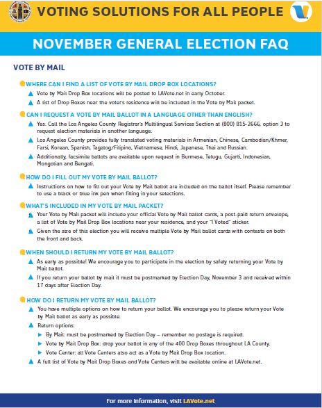 November General Election Voter Information