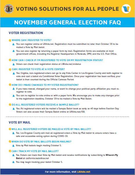 November General Election Voting information