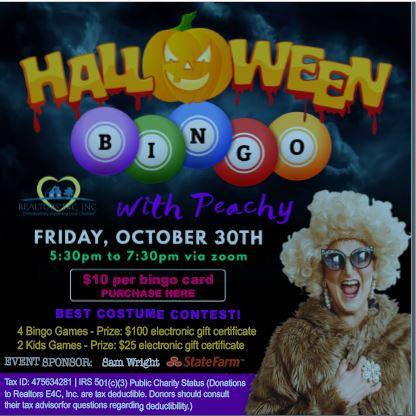 AAR Halloween Bingo with Peachy