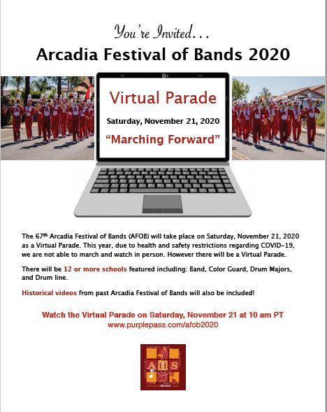 Arcadia Fest of Bands 2020