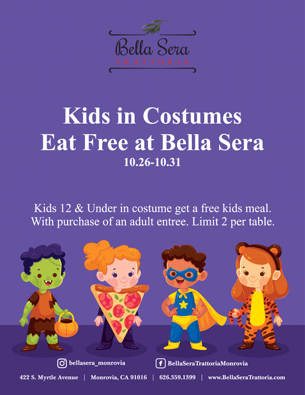 Bella Sera kids eat free