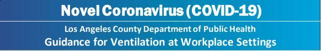 COVID-19 Notice on Ventilation