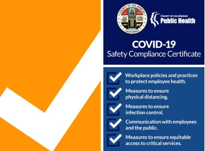 COVID-19 compliance certification