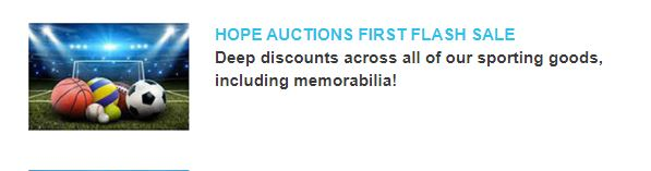 City of Hope sports auction