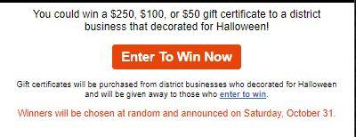 Downtown Arcadia Halloween enter to win