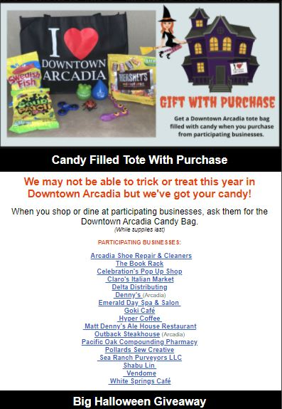 Downtown Arcadia Halloween fest