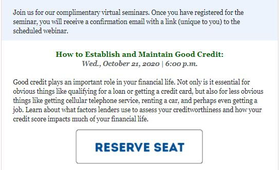 Foothill credit Union Webinars
