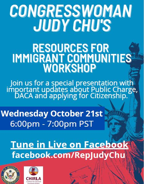 Judy Chu Immigrant Resources Workshop