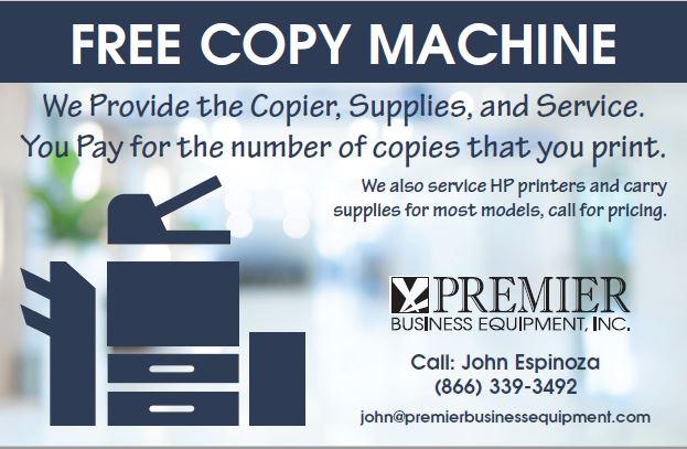 Premier Business Equipment free copy machine