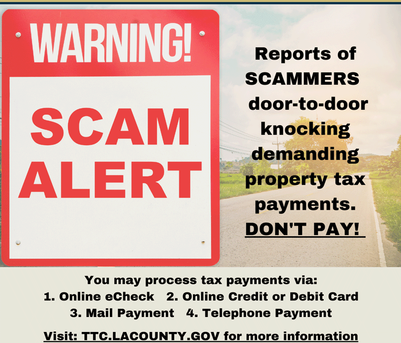Property Tax Scam Alert
