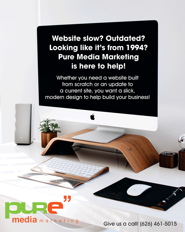 Pure Media Marketing time to update website