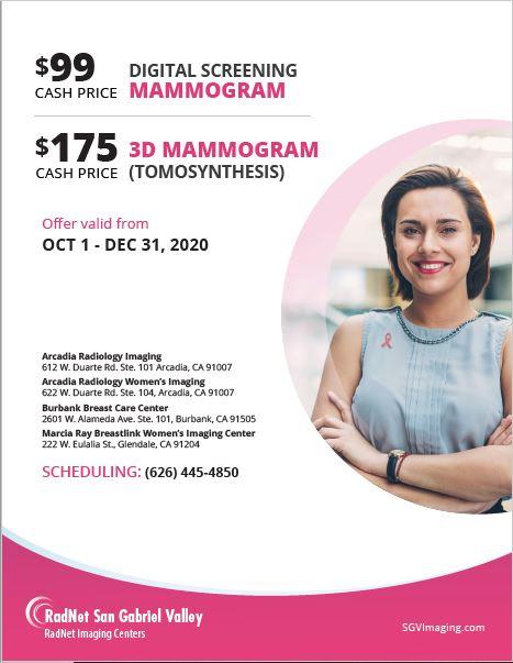 Radnet Mammogram Coupon