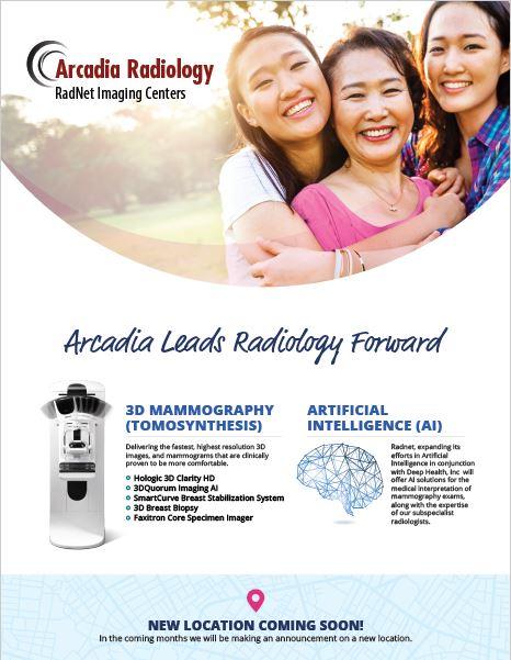 Radnet Mammogram info