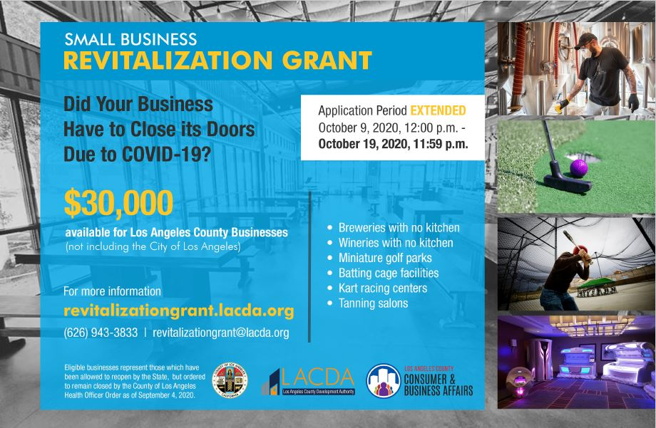 Small Business Grant extended