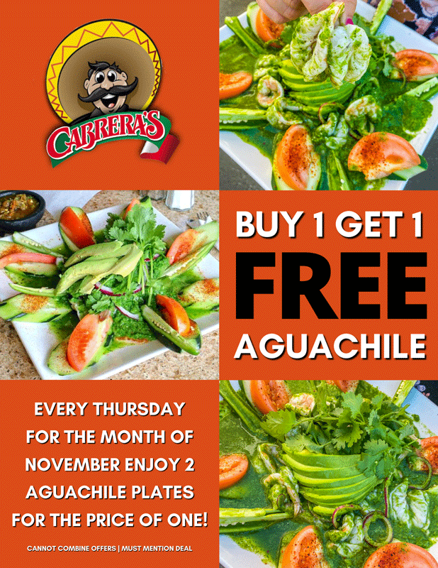 Cabrera's buy one get one aguachile