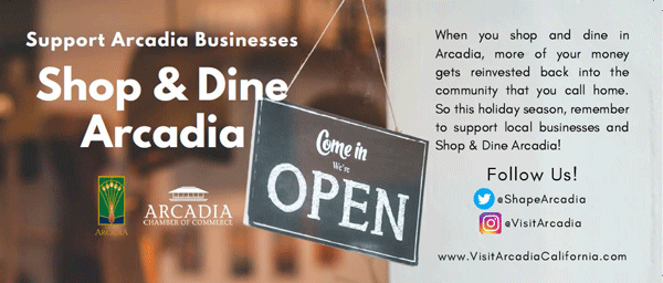 City of Arcadia Shop & Dine English