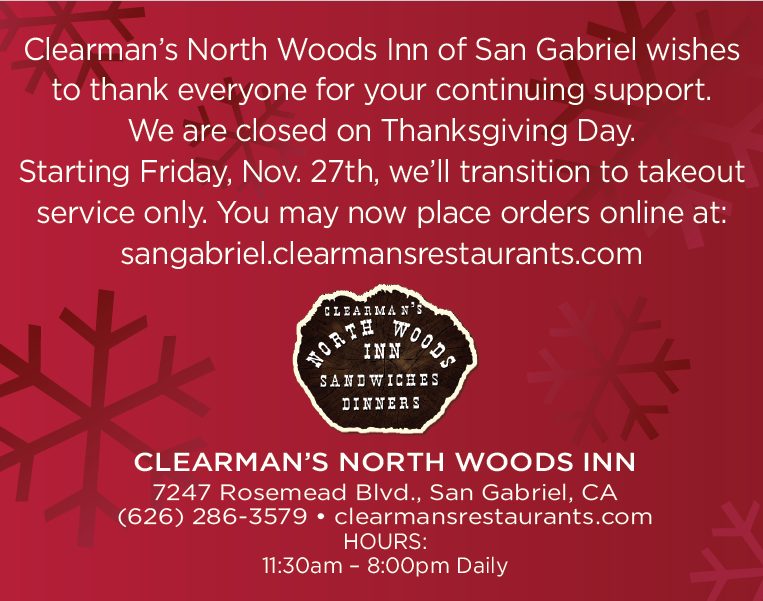 clearman's closed thanksgiving