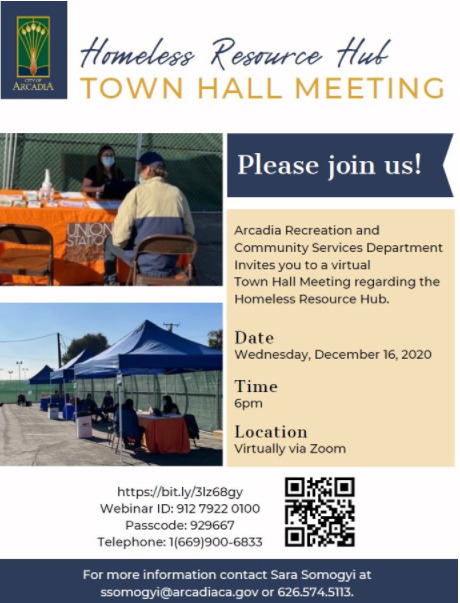 ity of Arcadia Homeless Town Hall