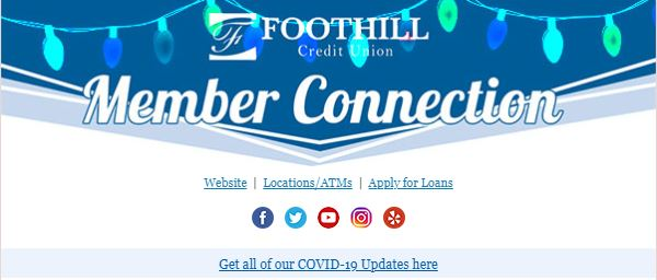 Foothill CU December Newsletter