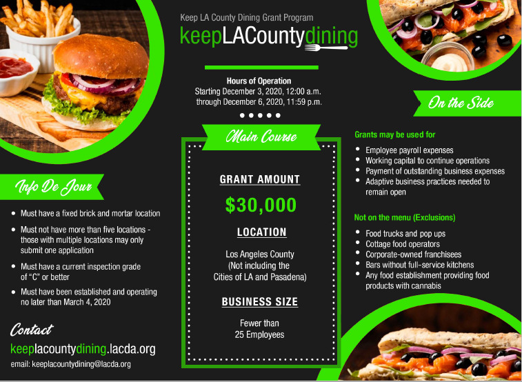 Keep LA Dining Grant Guide