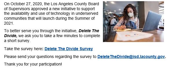 Delete the Divide Survey