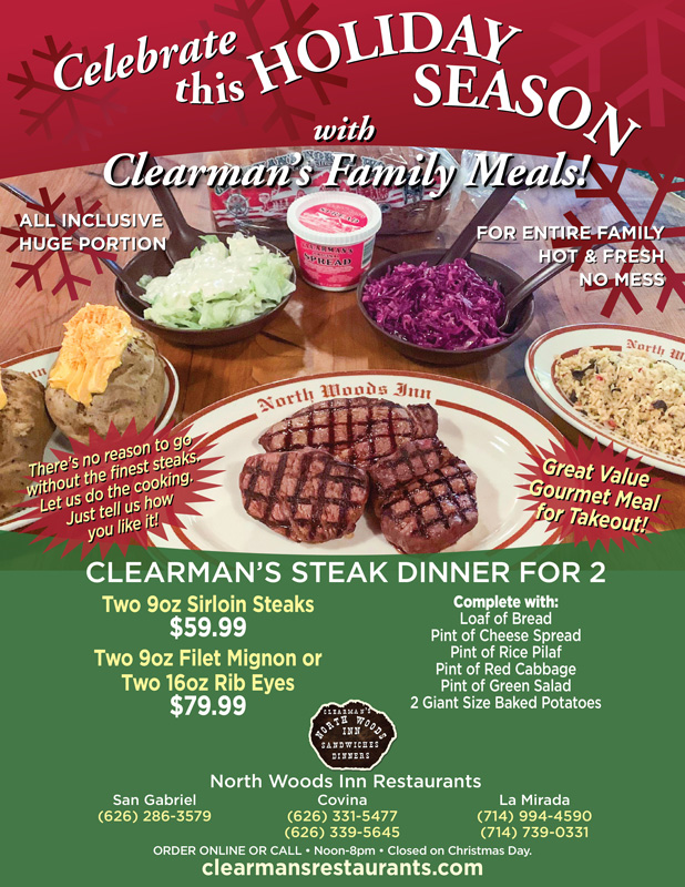 Clearmans Steak Dinners for 2