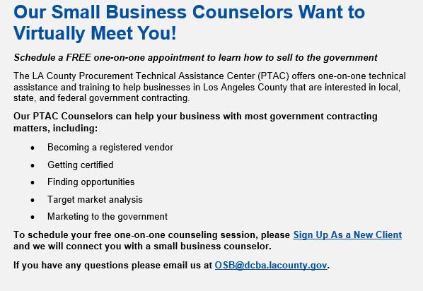 Small Business Counselors