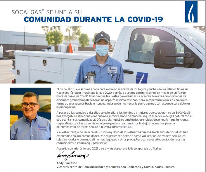 SoCal Gas COVID-19 Spanish