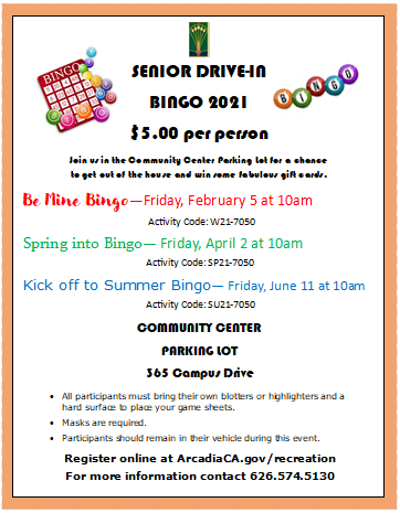 Be Mine Senior Bingo