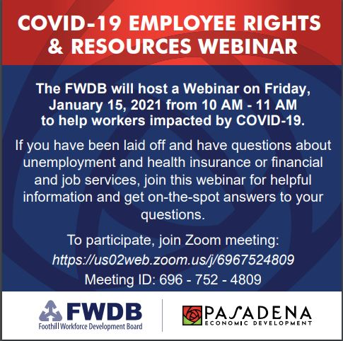 COVID 19 Foothill Workforce Webinar
