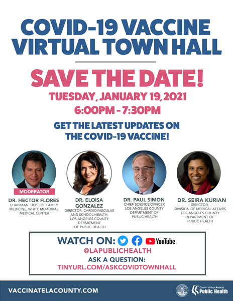 COVID-19 Vaccine Town Hall English Flyer