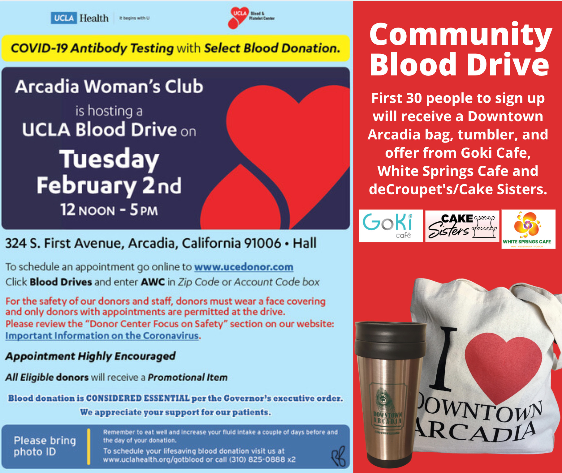 Woman's Club Community Blood Drive