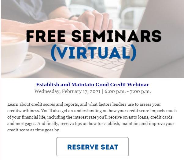 Foothill Credit Union Free Seminars