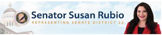 Senator Susan Rubio banner