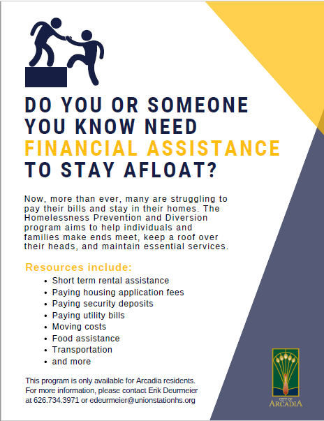 City of Arcadia Homeless Assistance